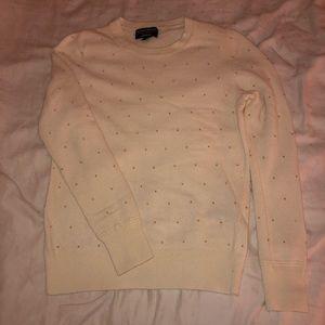 Gold beaded sweater